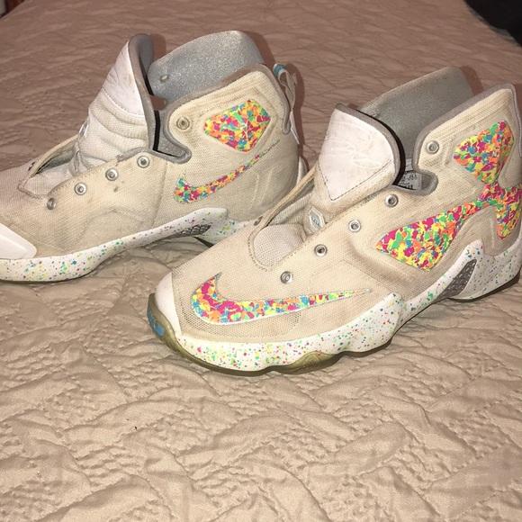sports shoes f5830 95e06 Lebron James Fruity Pebbles Nike Sneakers